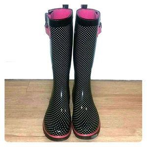 Polka-dot Rain Boots Size 6